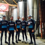 Headwind Cycling team in the Elevator Brewing Tap Room 2