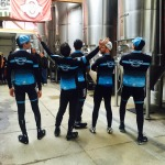 Headwind Cycling team in the Elevator Brewing Tap Room
