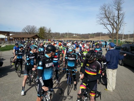 Staging at Zanesfield Road Race